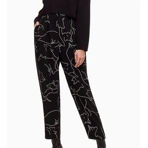 Aritzia Babaton Fox print modesta pants